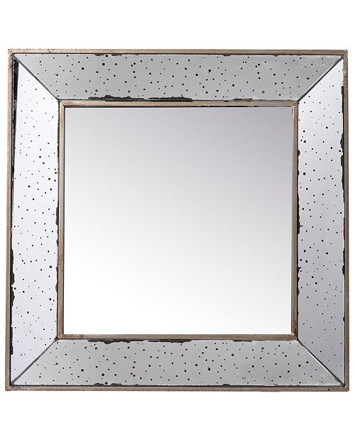 AB Home Marion Square Antique Glass Mirror, Large