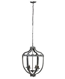 Malin Vintage Rustic Style 4-Light Iron Chandelier