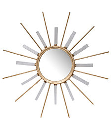 Dulcie Metal And Stone Sunburst Mirror
