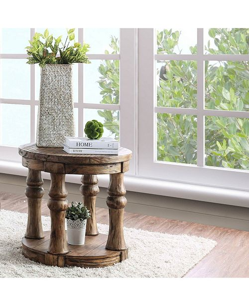 Furniture of America Joss Round End Table