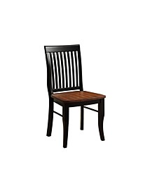 Lowry Vintage Black Dining Chair (Set of 2)