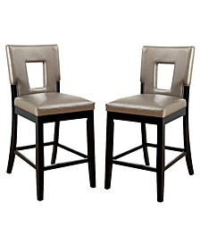 Nosbisch Upholstered Pub Chair (Set of 2)