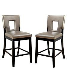 Nosbisch Upholstered Pub Chair (Set of 2)