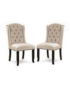 Langly Antique Black Side Chair (Set of 2)