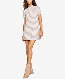 BCBGeneration Striped Mock-Neck Mini Dress