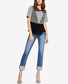 BCBGeneration Colorblocked Contrast Top