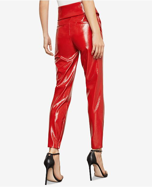 7821f173b1277 BCBGMAXAZRIA Faux-Leather Peplum Pants & Reviews - BCBGMAXAZRIA ...