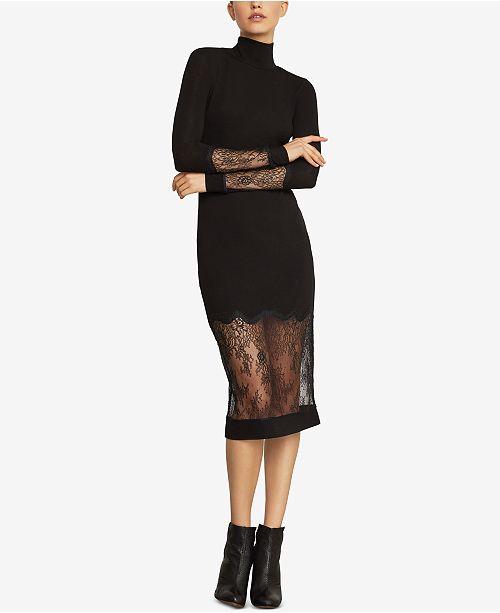 43684665b30e BCBGMAXAZRIA Lace-Trim Sheath Dress   Reviews - BCBGMAXAZRIA - Women ...