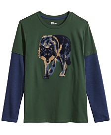 Epic Threads Big Boys Wolf T-Shirt, Created for Macy's