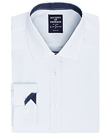 Society of Threads Men's Slim-Fit Performance  Stretch Solid Dress Shirt