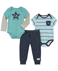 Calvin Klein Baby Boys 3-Pc. Bodysuits & Pants Set