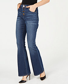 I.N.C. Pull-On Flare Jeans, Created for Macy's