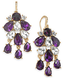 Charter Club Gold-Tone Crystal & Stone Statement Earrings, Created for Macy's