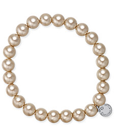 Charter Club Charter Club Silver-Tone Imitation Pearl Stretch Bracelet, Created for Macy's