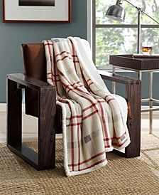Newcastle Plaid Sherpa Throw