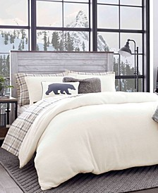 Cloud Peak Light Beige Full/Queen Duvet Cover Set
