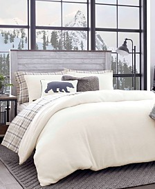 Eddie Bauer Cloud Peak Light Beige Twin Duvet Cover Set