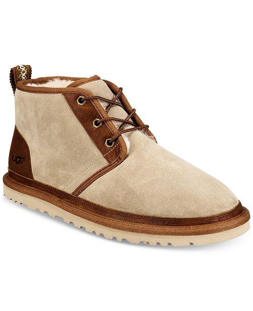 0dbbec18fde UGG® Men's Neumel Leather Trim Chukka Boot & Reviews - All Men's ...