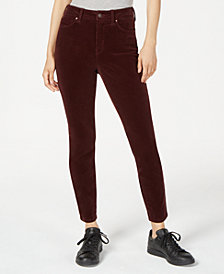 Rewash Juniors' High-Rise Corduroy Jeans