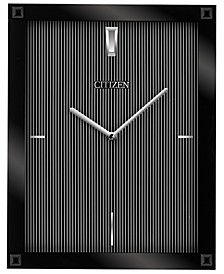 Gallery Black Glass Rectangular Wall Clock