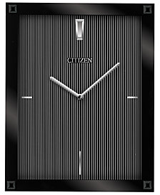 Citizen Gallery Black Glass Rectangular Wall Clock
