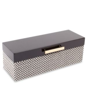 Image of Black Lacquer Jewelry Box