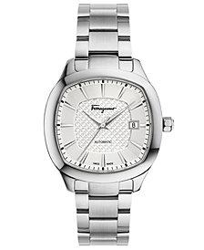Ferragamo Men's Swiss Automatic Time Stainless Steel Bracelet Watch 41x41mm