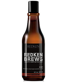 Redken Brews 3-in-1 Shampoo, Conditioner and Body Wash, 10-oz., from PUREBEAUTY Salon & Spa