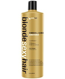 Sexy Hair Blonde Sexy Hair Bombshell Blonde Daily Color Preserving Conditioner, 33.8-oz., from PUREBEAUTY Salon & Spa