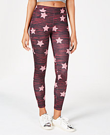 Material Girl Juniors' Star-Print Leggings