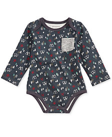 First Impressions Baby Boys Mountain-Print Bodysuit, Created for Macy's