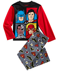 DC Comics Little & Big Boys 2-Pc. Justice League Fleece Pajama Set