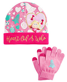 Accessory Innovations Little & Big Girls 2-Pc. Heart Of A Who Hat & Gloves Set