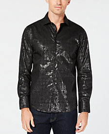 Tallia Men's Slim-Fit Shimmer Dress Shirt