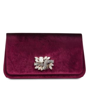 I.n.c. Mishel Velvet Brooch Clutch, Created for Macy's - Madiera/Gold