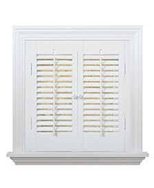 """Traditional Faux Wood Interior Shutter, 23-25""""  W x 32"""""""