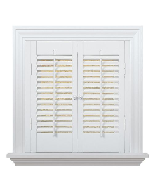 """US Shade & Shutter Traditional Faux Wood Interior Shutter, 23-25""""  W x 32"""""""