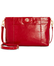 Giani Bernini Bark Patent Crossbody, Created for Macy's