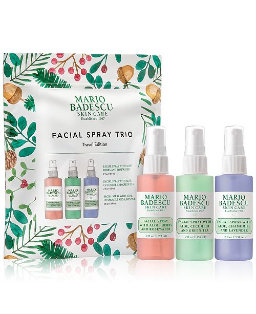 Mario Badescu 3-Pc. Facial Spray Travel Set