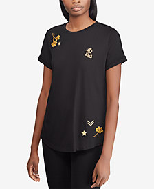 Lauren Ralph Lauren Embroidered Top