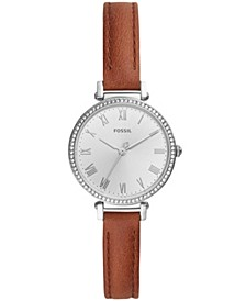 Women's Kinsey Brown Leather Strap Watch 28mm