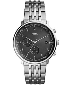 Fossil Men's Chronograph Chase Timer Stainless Steel Bracelet Watch 42mm