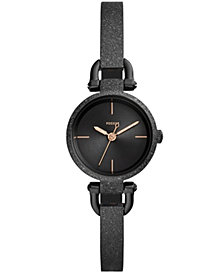 Fossil Women's Georgia Mini Black Stainless Steel Bracelet Watch 26mm