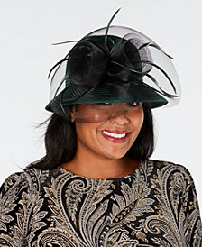 August Hats Satin Stripe Luxurious Cloche