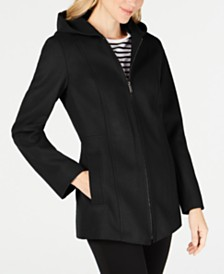 London Fog Petite Hooded Coat