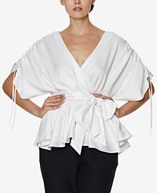 INSPR x Natalie Off Duty Ruffle Wrap Top, Created for Macy's
