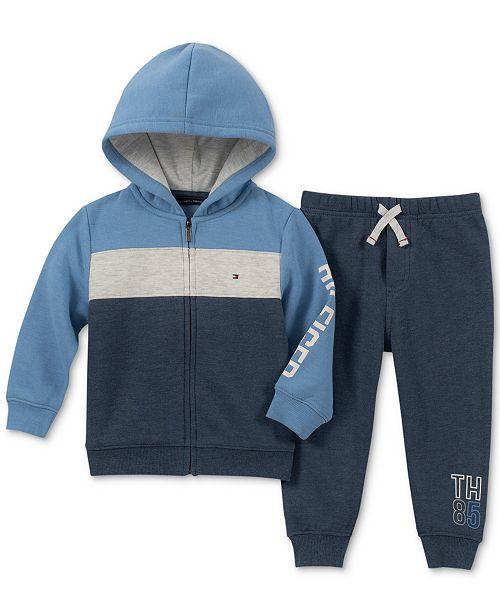 ebd8d2536c7b Tommy Hilfiger Baby Boys 2-Pc. Hoodie   Jogger Pants Set ...