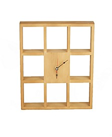 Wall Shelf Clock for Kitchen, Bedroom, Bathroom, Office Use, Brown