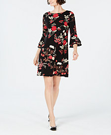 Charter Club Printed Bell-Sleeve Shift Dress, Created for Macy's