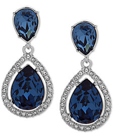 Givenchy Stone & Crystal Teadrop Halo Drop Earrings